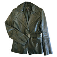 Ferragamo Green Leather Jacket