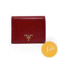 Prada Red Patent Card Holder