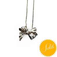Tiffany & Co. Silver Bow Necklace