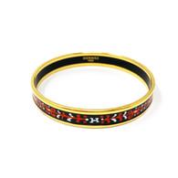 Hermès Black and Red Narrow Bangle