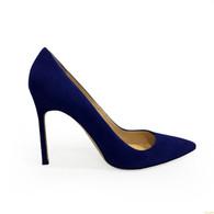 Manolo Blahnik Dark Blue Heels