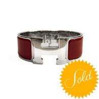 Hermès Red H Bracelet