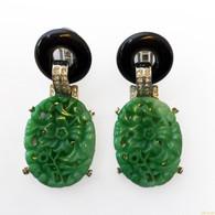 Kenneth Jay Lane Jade Earrings