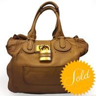 Chloé Tan Leather Handbag