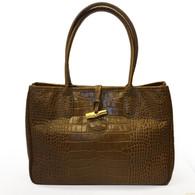 Longchamp Croc-Embossed Handbag