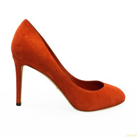 Gucci Orange Suede Heels