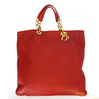 Christian Dior Red Leather Tote