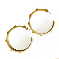 Alexis Bittar Gold Studded Lucite Hoops