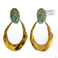 Alexis Bittar Large Gold Hoops