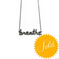 "Sydney Evan Diamond ""Breathe"" Necklace"