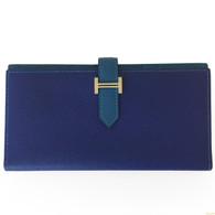 Hermès Blue Bearn Wallet