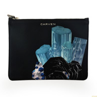 Carven Printed Leather Pouch