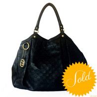 "Gucci Black ""Sukey"" Handbag"