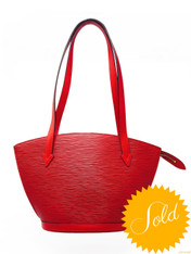 "Louis Vuitton Red Epi ""Saint Jacque"" Handbag"