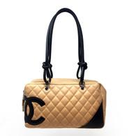 Chanel Beige and Black Handbag