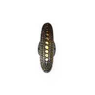 John Hardy Silver and Gold Oval Ring