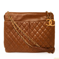 Chanel Brown Lambskin Handbag