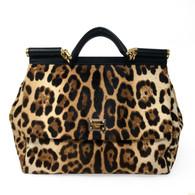 "Dolce & Gabbana Leopard ""Miss Sicily"" Handbag"