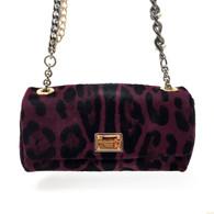 Dolce & Gabbana Purple Leopard Handbag