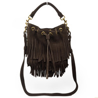 "Saint Laurent ""Emmanuelle"" Fringed Purse"