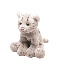 Yomiko Sitting Grey Tabby Cat - Soft Toy Kitten by Suki Gifts