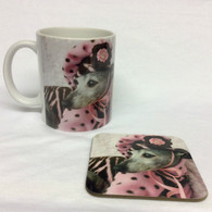 Girly Greyhound Mug and Coaster Set