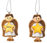 Angel Boy Gold Decoration Personalised *ANY NAME*
