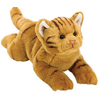 No 1 Selling Soft Plush Stuffed Cuddly Animal Toy - Medium Resting Orange / Ginger Tabby Cat - A Lovely Present From Your New Brother Or Sister