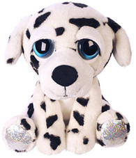 Suki Gifts Lil Peepers Fun Dylan Dalmatian Dog Plush Toy with Silver Sparkle ...