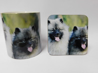 Keeshond Mug and Coaster Set