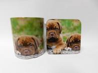 Dogue De Bordeux Puppies Mug and Coaster Set