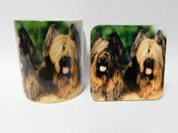 Briard Dog Mug and Coaster Set
