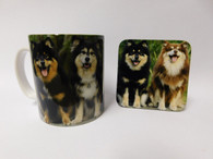 Finnish Lapphund Dog Mug and Coaster Set