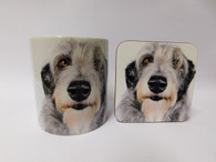 Deerhound Dog Mug and Coaster Set