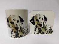 Dalmation Dog Mug and Coaster Set