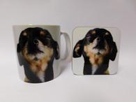 Black Chihuahua Face Mug and Coaster Set