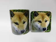 Canaan Dog Mug and Coaster Set