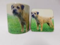 Border Terrier Dog Mug and Coaster Set