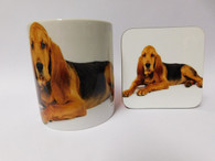Bloodhound Dog Mug and Coaster Set