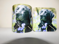 Black Labrador Retriever Mug and Coaster Set