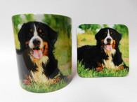 Bernese Dog Mug and Coaster Set