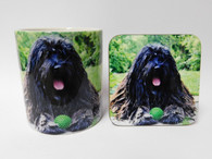 Bergamasco Dog Mug and Coaster Set