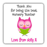 Personalised Thank You Best Teacher Coaster Gift