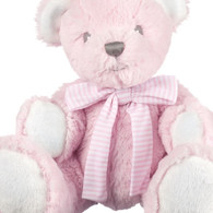 Small Pink Hug-a-Boo Bear with Rattle