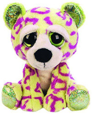 Lil Peepers Fun Sasha Leopard Plush Toy with Green Sparkle Accents (Small)