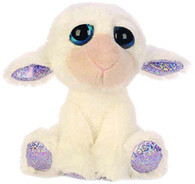 Lil Peepers Fun April Lamb Plush Toy with Silver Sparkle Accents on Paws (Small)