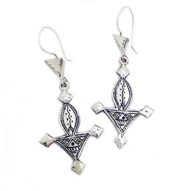 Bagzan Cross Earrings