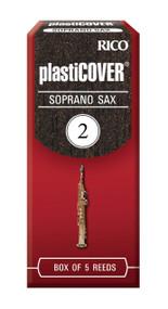 Rico Plasticover Soprano Sax Reeds, Strength 2.0, 5-pack