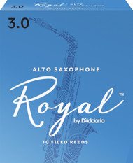 Rico Royal Alto Sax Reeds, Strength 3.0, 10-pack
