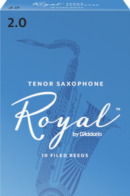 Rico Royal Tenor Sax Reeds, Strength 2.0, 10-pack
